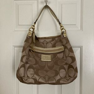 Gold Coach handbag
